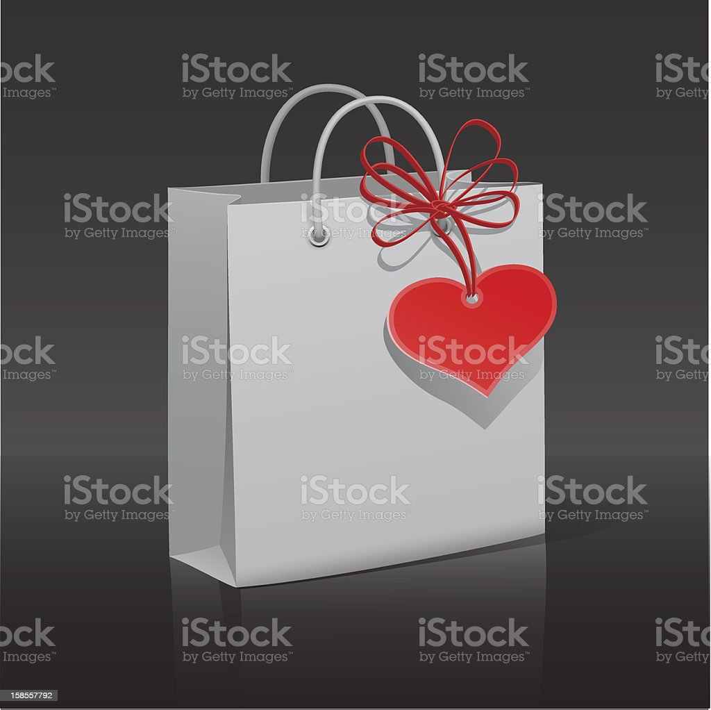 종이를 가방 적색 심장 발신기 royalty-free 종이를 가방 적색 심장 발신기 가방에 대한 스톡 벡터 아트 및 기타 이미지
