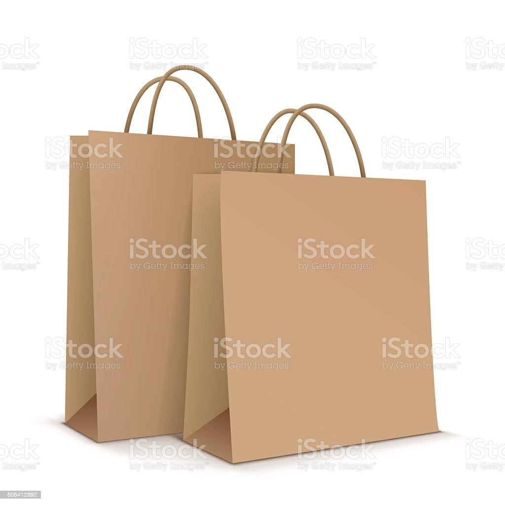 Paper bags. Vector Illustration vector art illustration