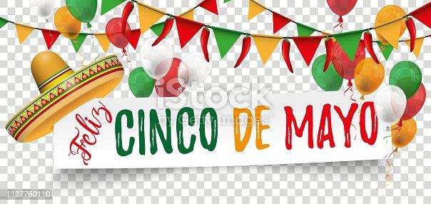 Paper Banner Buntings Chili Happy Hat Cinco de Mayo