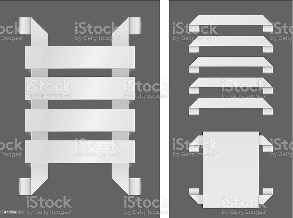 Paper banners royalty-free paper banners stock vector art & more images of choice