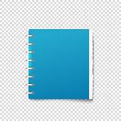 Paper binder on transparent background vector mockup