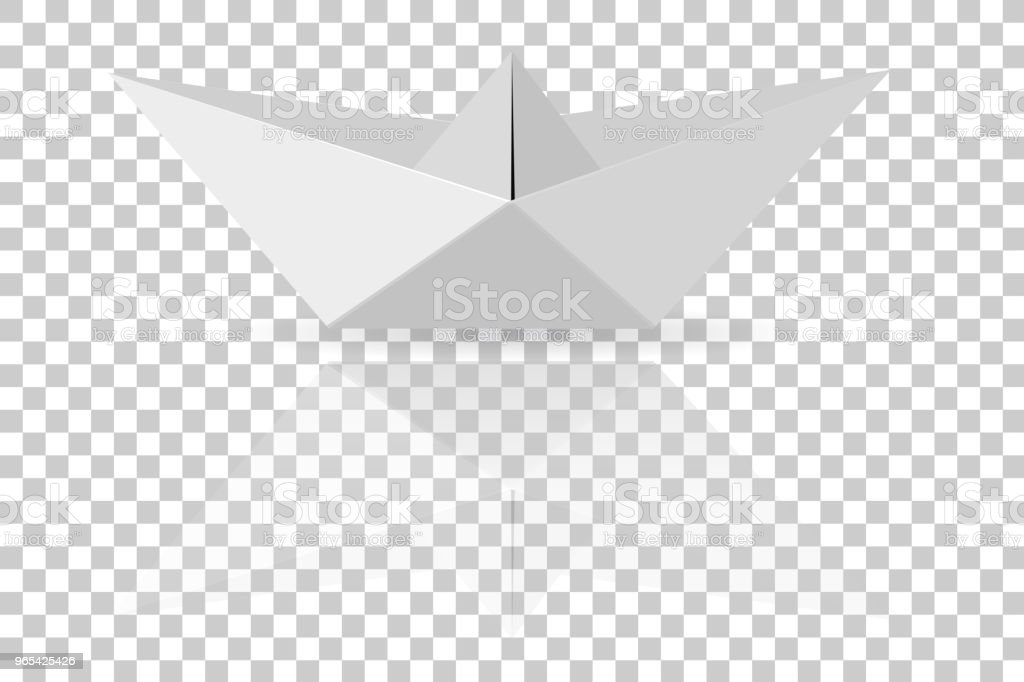 Paper Boat, at Transparent Effect Background royalty-free paper boat at transparent effect background stock vector art & more images of abstract