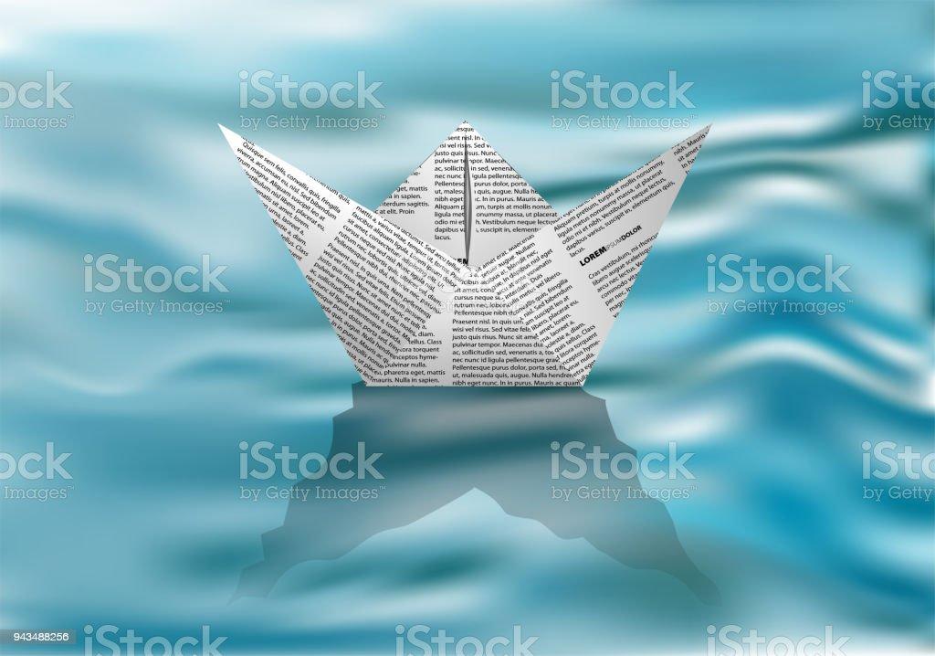 Bateau En Papier Sur Leau Vecteurs Libres De Droits Et Plus D Images Vectorielles De Bateau En Papier Istock