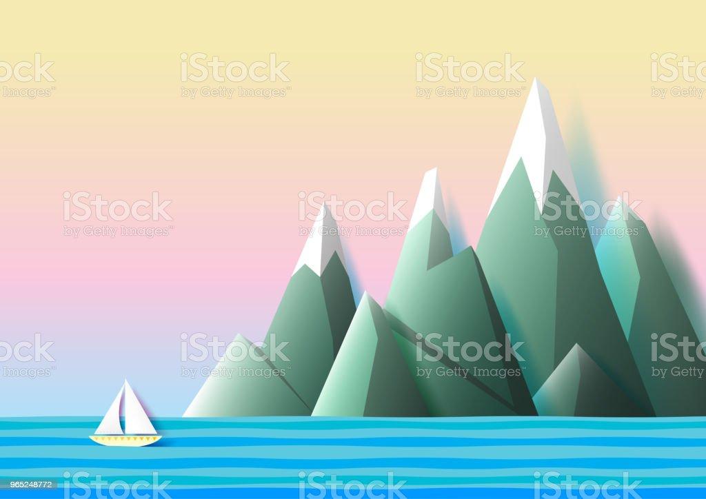 Paper boat sailing lonely on the sea paper art style. paper boat sailing lonely on the sea paper art style - stockowe grafiki wektorowe i więcej obrazów abstrakcja royalty-free