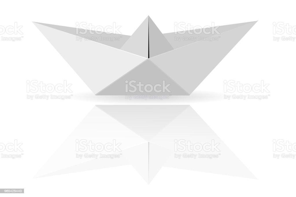 Bateau en papier - clipart vectoriel de Abstrait libre de droits