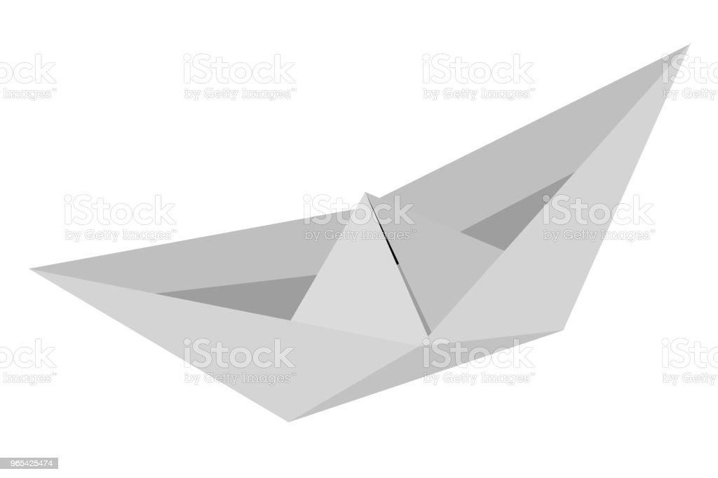 紙船 - 免版稅乾淨圖庫向量圖形