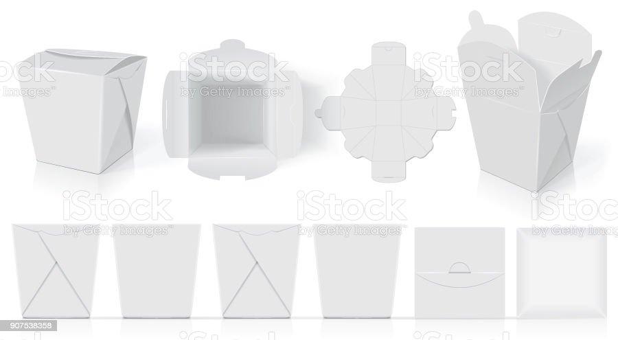 Paper box for your design vector art illustration