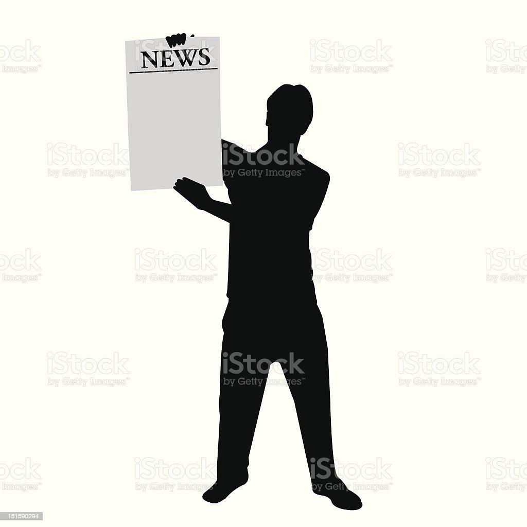 paper boy royalty-free stock vector art