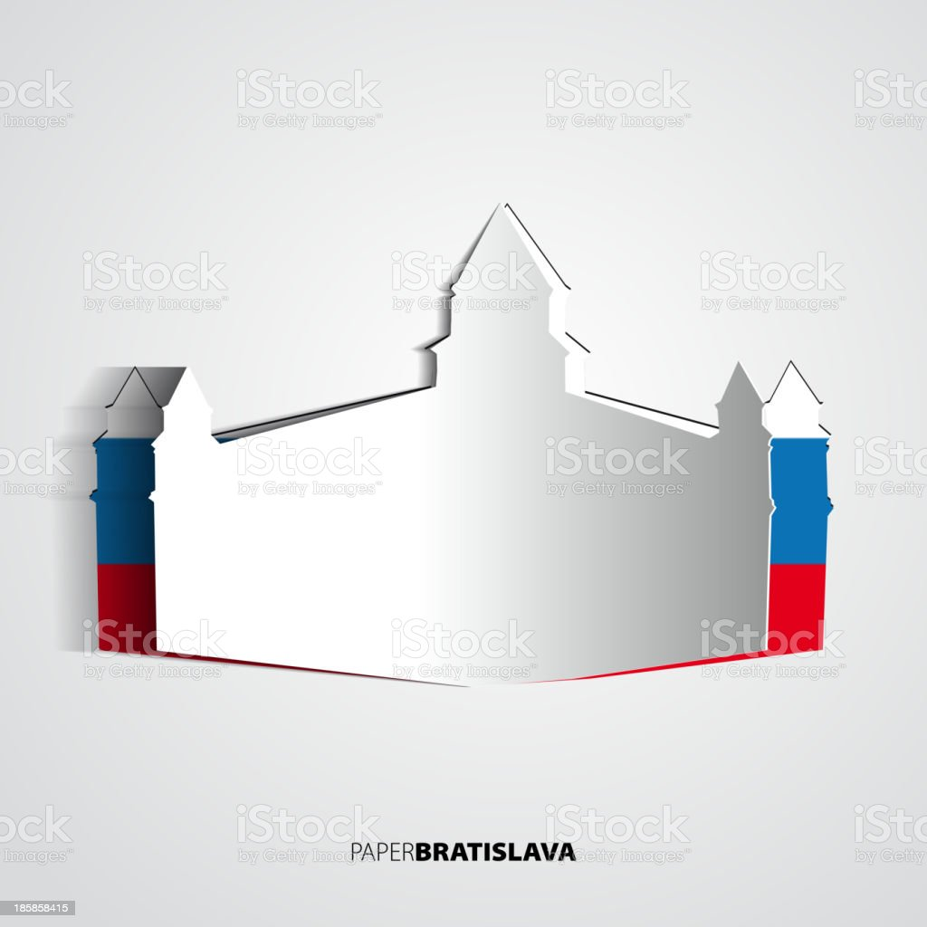 Paper Bratislava Castle royalty-free stock vector art