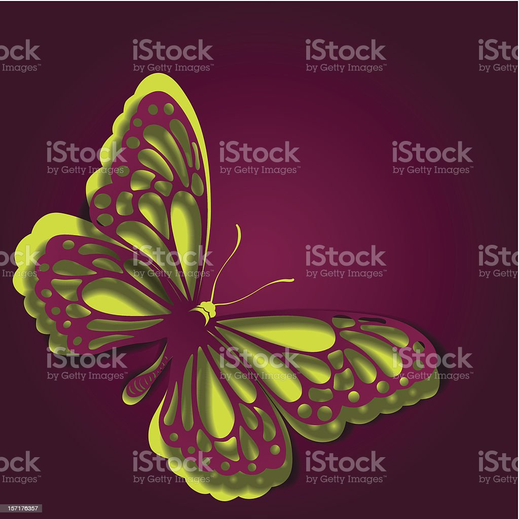 Paper butterfly royalty-free stock vector art