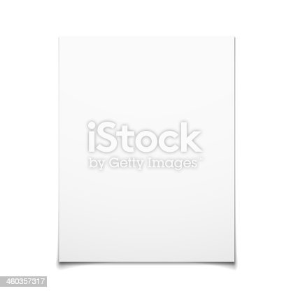Paper Card Isolated On White Background, Vector Illustration