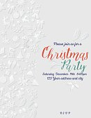 3D Paper Christmas Party Invitation Template