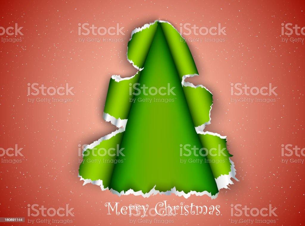 Paper Christmas Tree royalty-free stock vector art
