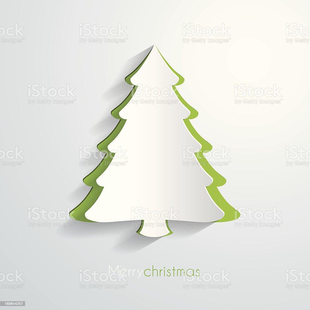 Papier Mit Weihnachtsbaummotiv Stock Vektor Art und mehr Bilder von ...