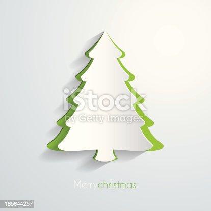 istock Paper christmas tree 185644257