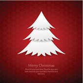 Modern paper cutout Christmas background with space for your Christmas greeting message.