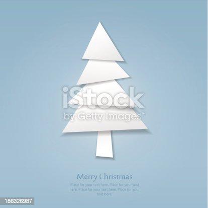 istock Paper Christmas tree 186326987