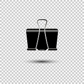 istock Paper clip icon isolated on white background. Vector illustration. 1291075497