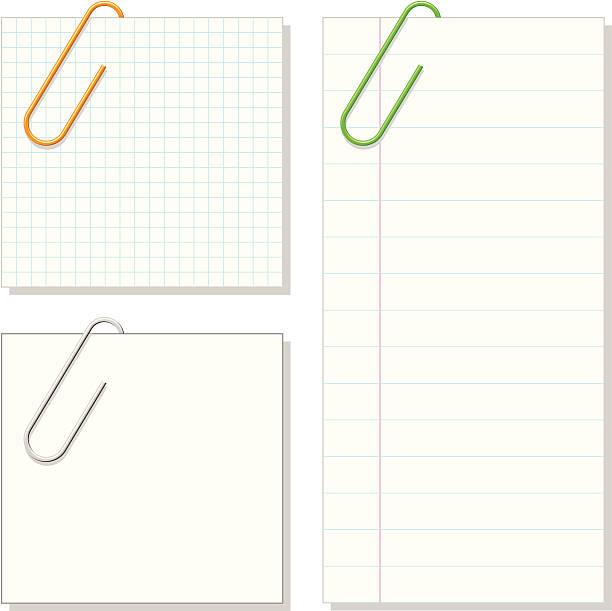 VECTOR - Paper Clip & Notepaper vector art illustration