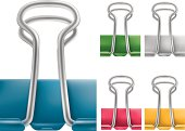 paper clips in different color.created by mesh in Illustrator CS2. eps8,ai8,jpg format are available.isolated on white background.