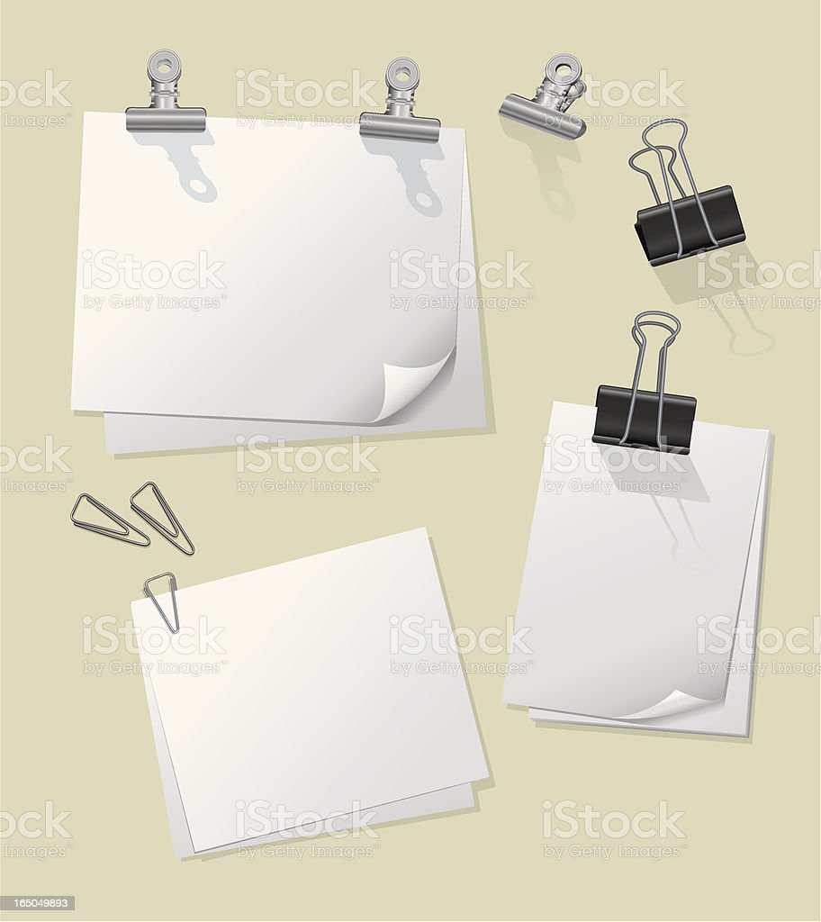 paper clips and clipboards royalty-free stock vector art