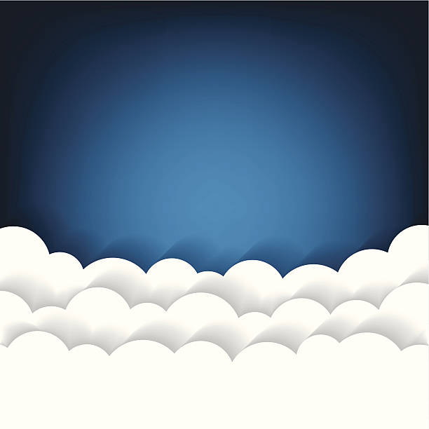 paper clouds background - sleep stock illustrations