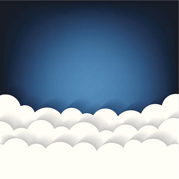 illustrazioni stock, clip art, cartoni animati e icone di tendenza di sfondo nuvole di carta - dream
