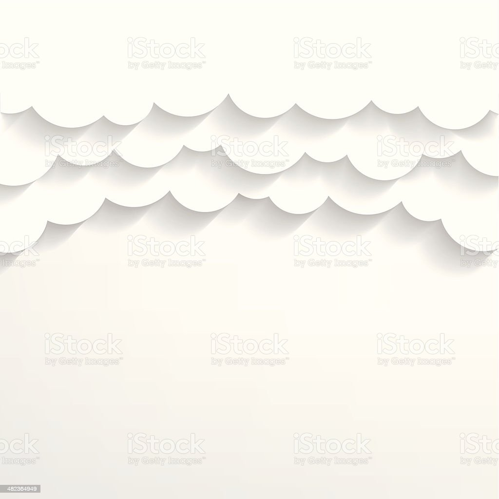 Paper clouds Background vector art illustration