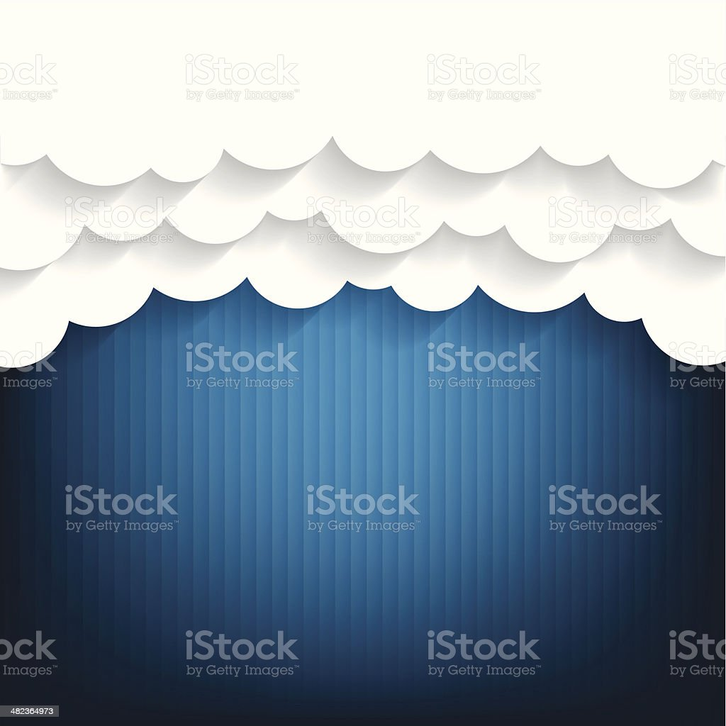 Paper clouds Background royalty-free paper clouds background stock vector art & more images of abstract