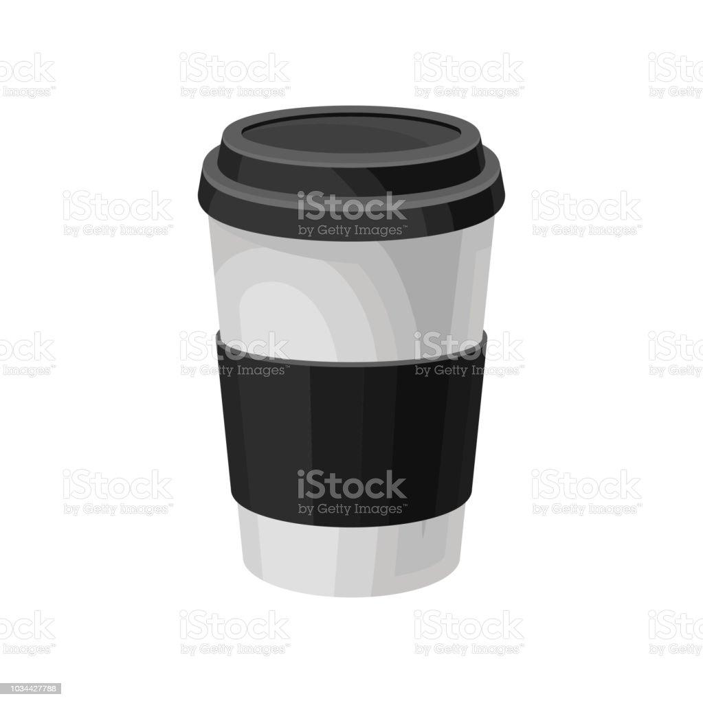 Kaffeetasse Mit Schwarzem Kunststoffdeckel Papier Kaffee Verpackung ...