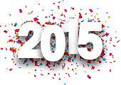 2015 paper confetti sign.