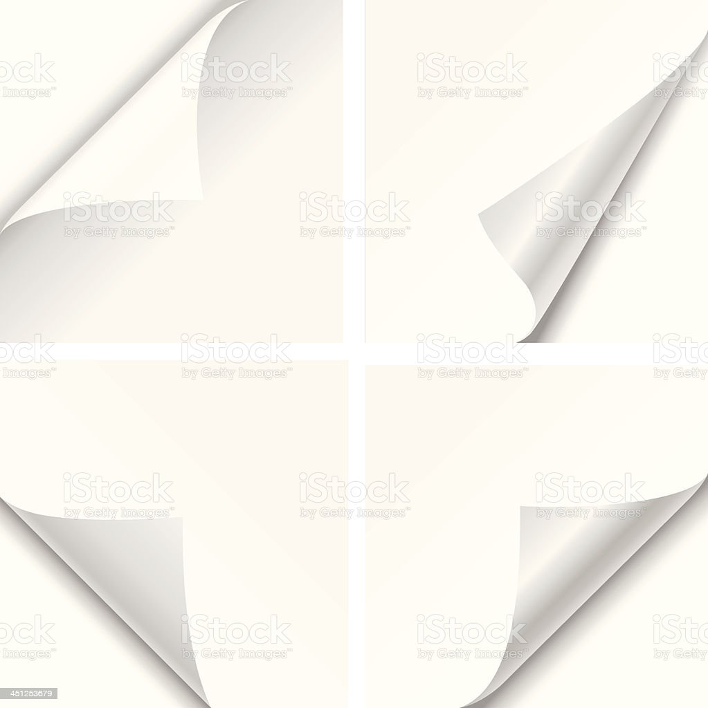 Paper Corner Folds vector art illustration