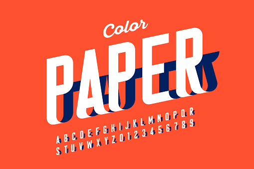 Paper craft style font