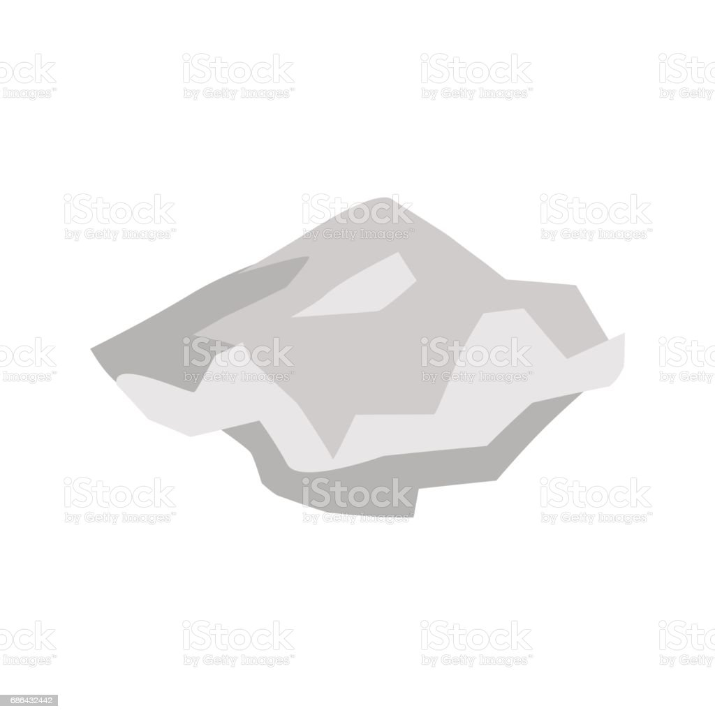 Paper crushed garbage isolated. sheet  rubbish on white background vector art illustration
