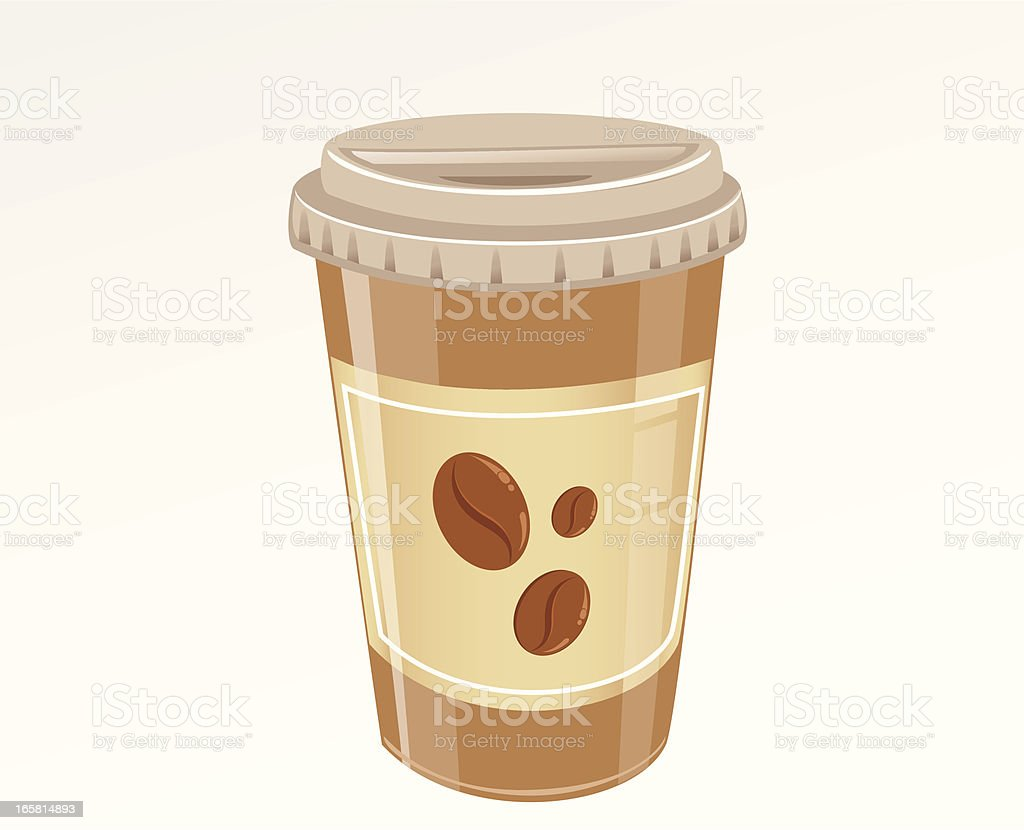 Paper Cup Coffee royalty-free stock vector art