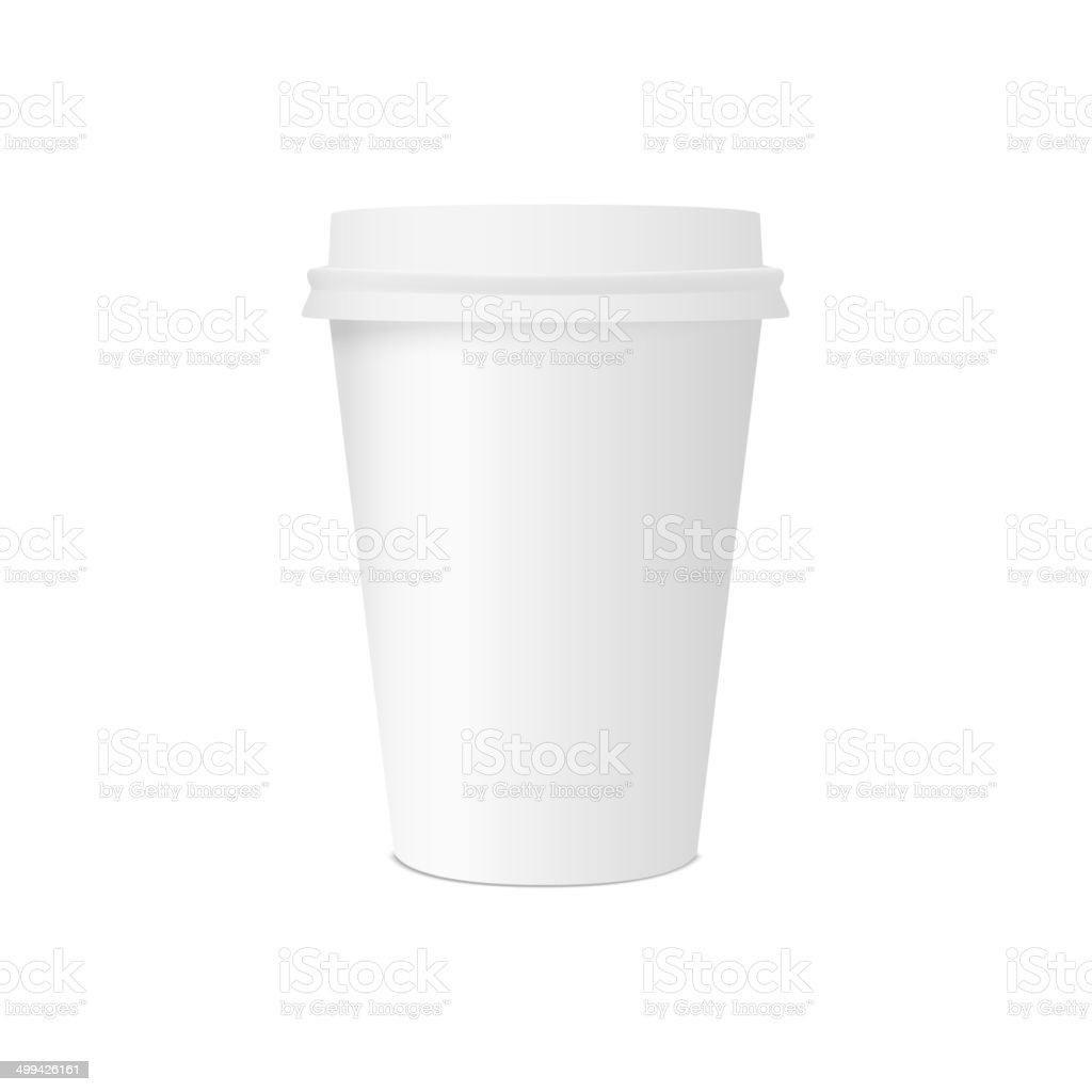 Paper cup for coffee royalty-free stock vector art