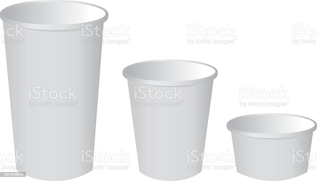 paper cup set Vector royalty-free stock vector art