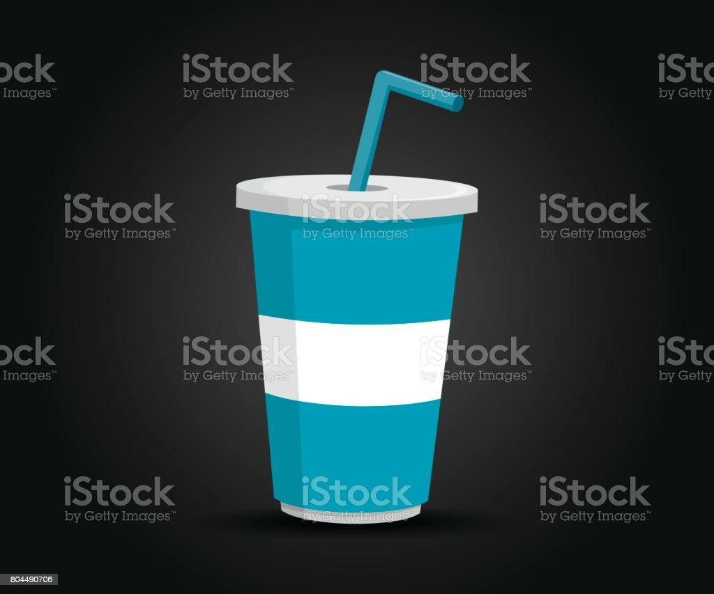 Paper Cup Template for Soda Isolated Vector Design vector art illustration