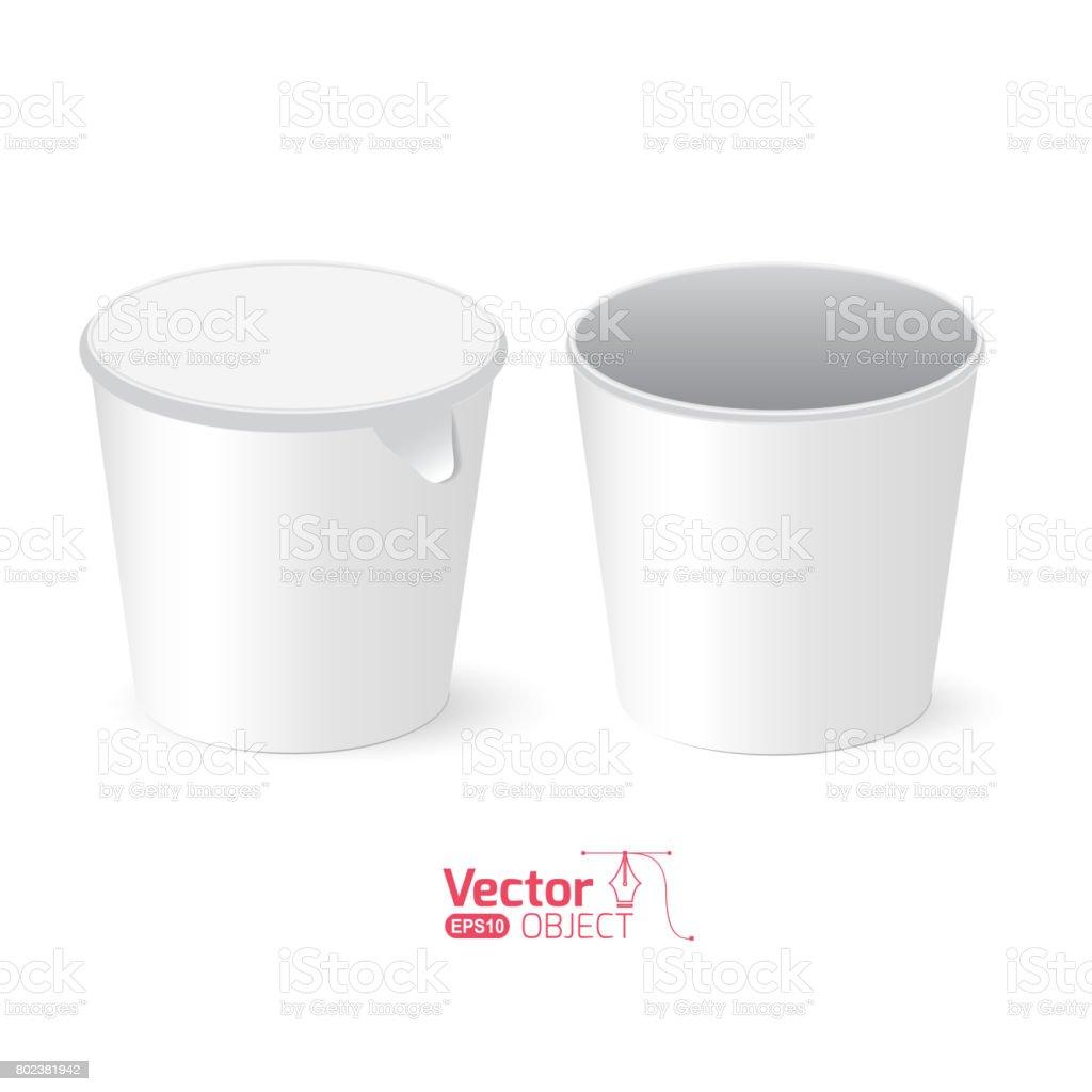 paper cup vector art illustration