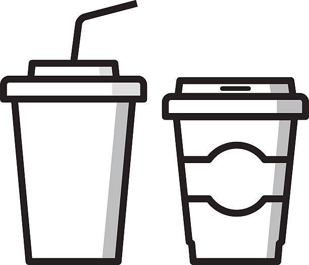 Paper Coffee Cup On White Illustrations, Royalty-Free Vector