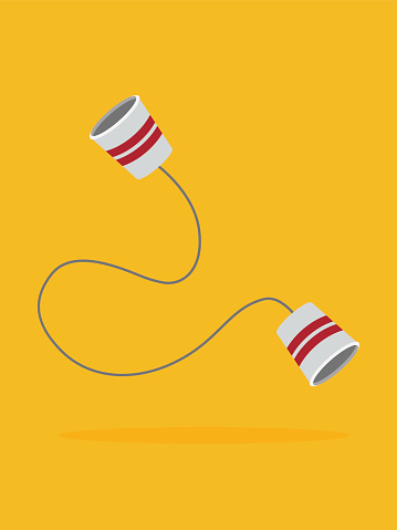 paper cups phone.Vector illustration.