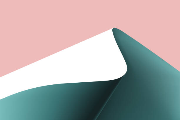 Paper curved into a mountain shape background. Paper curved into a mountain shape background. bending stock illustrations