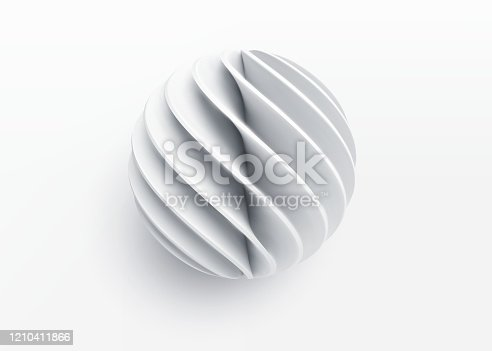 Paper cut 3d realistic layered sphere. Concept design element for presentations, web pages, posters and flyers. Vector illustrartion EPS10