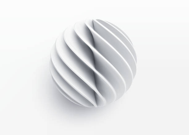 Paper cut 3d realistic layered sphere. Concept design element for presentations, web pages, posters and flyers. Vector illustrartion Paper cut 3d realistic layered sphere. Concept design element for presentations, web pages, posters and flyers. Vector illustrartion EPS10 three dimensional stock illustrations