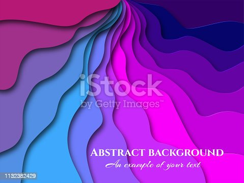 Paper cut background. Abstract realistic paper decoration for design textured. 3d. Carving art. Vector illustration. Cover layout design template.