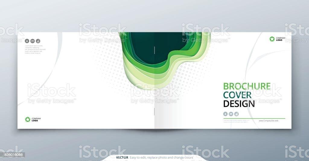Scherenschnittbroschüre Design Papier Schneiden Abstrakte Abdeckung ...