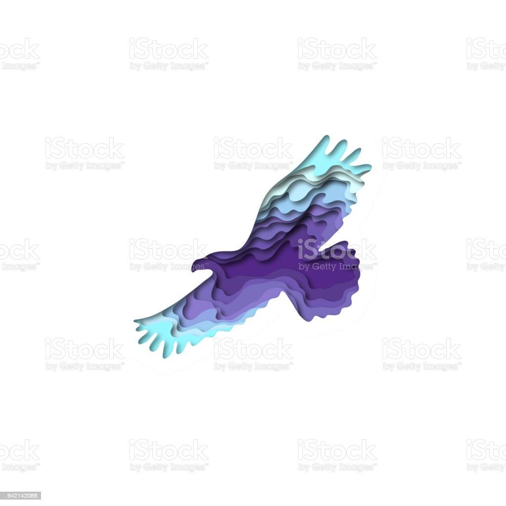 Paper Cut Eagle Shape 3d Origami Trendy Concept Fashion ...