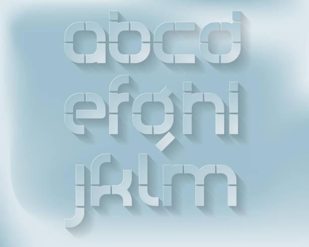 Tipo de letra de corte de papel-Vector - ilustración de arte vectorial