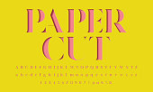 Color paper cut alphabet design