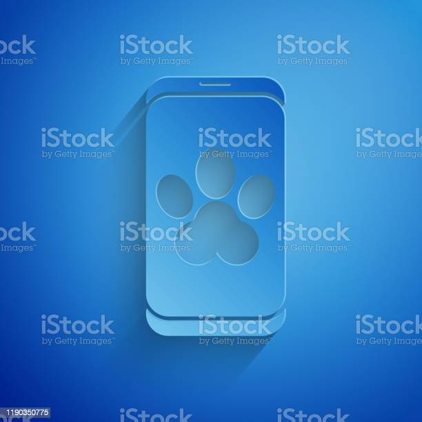 Paper cut online veterinary clinic symbol icon isolated on blue vector id1190350775?b=1&k=6&m=1190350775&s=612x612&h=x5k2l ex umuax6zejx47zbqgondym2wqatfcxjkd3k=